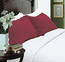 All For You 2-Piece Embroidered Pillow Shams-King size king, burgundy