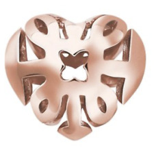 Genuine Thomas Sabo sterling silver 925 18ct rose gold plated heart karma bead