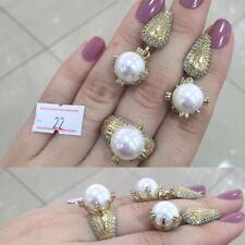 925 Sterling Silver Jewelry Fabulous Akoya Pearl Stone Lady Set