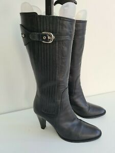 Ted Baker Black Leather Boots Size 4 / 36.