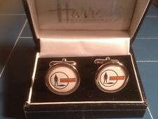 UFO - SHADO HIGH QUALITY GOLD & SILVER PLATED CUFFLINKS IN HARRODS BOX