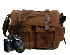 Canvas DSLR Messenger Camera Bag Shoulder Laptop Sleeve Photo for Canon Nikon