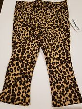 12-18 Month Girl Pants Baby Old Navy Leopard Brown Black Flare Stretchy