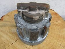 Vintage WOOD FOUNDRY MOLD WHEEL Industrial GEAR ART STEAMPUNK SALVAGE Old