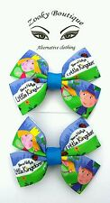 Ben and Holly's little kingdom. Toy character hair bow clip/slide accessory x2