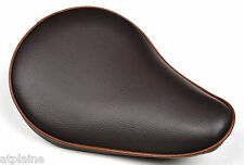 SELLE SOLO UNIVERSELLE FITZZ SLIM Small Marron pour HARLEY et CUSTOMS