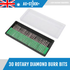 30 pcs Diamond Coated Rotary Burr Bits Set Die Grinder Points Bur Dremel Shank