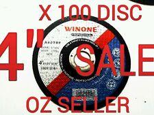 """100pc x 4"""" (100 x 1x 16) FLAT Metal Cut Disc Wheel  CutOff steel cut off wheel"""