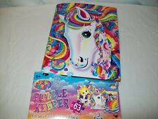 Lisa Frank binder book & 3 puzzles horse, puppies, kittens & stickers