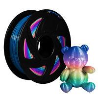 Colorful PLA 1.75mm 3D Printer Changing Filament 1kg Rainbow Multicolor Colour