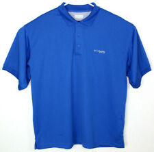 Columbia Pfg Men's Omni-Shade Fishing Vented Short Sleeve Polo Shirt Sz Xl
