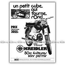 PUB KREIDLER FLORETT 50 RS - Moped Advert / Publicité Cyclo-Sport de 1973 #1