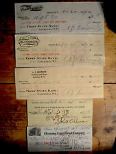 10 different U.S. bank checks all pre-1969 nice used and unused condition