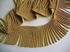 "Lustrous Rayon Old Gold 3"" Bullion Fringe Trim ~ 2 YARDS or MORE ~ Drapery"
