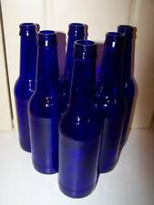 6 Cobalt Blue Bottles Excellent 12 oz size * Clean, No Labels, Crafting