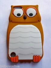 OWL Brown Silicone Back Case for iPod Touch 5 / iPod 5th Gen with FREE POSTAGE