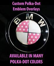 BMW Polka-Dot Emblem Overlay Sticker Decal -Red Pink Blue Black... & MANY MORE!