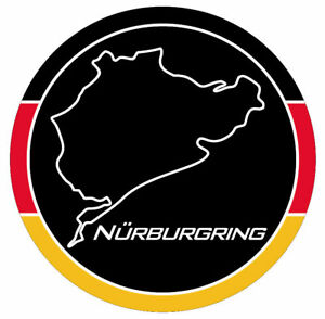 =Nurburgring Track Vinyl Decal Sticker, White, Car Van, Astra, Corsa 85mm