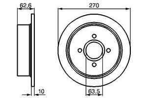2 DISQUES DE FREIN ARRIERE FORD ESCORT 1.3 1.4 1.6 1.8 D TD XR3I 2.0 RS 16V