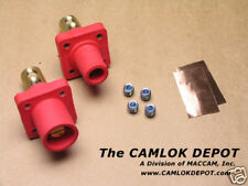 Camlok #2 - 4/0 MALE & FEMALE RED Panel Mount Pair Kit