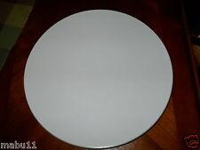 SASAKI COLORSTONE MATTE MAT WHITE CHOP PLATE ROUND PLATTER