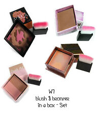 W7 blush & bronzer in a box Set - Rouge - Honolulu, Africa, Double Act *NEU*
