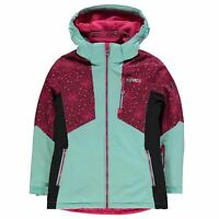 Nevica Meribel Jacket Youngster Girls Ski Coat Top Full Length Sleeve Hooded Zip