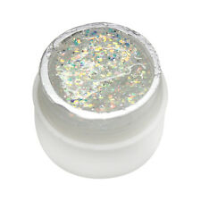 8ML DIY Shiny Glitter Powder Glue Nail Polish Soak Off UV Lamp Gel