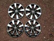 "Set of 4 2014 15 2016 Corolla 16"" Hubcaps Wheel Covers Charcoal Chrome 61172"