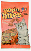 Pop'n Bites for Cats crunchy texture flavors SALMON Made in the USA 2oz - 6pk