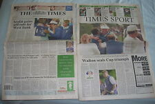 THE TIMES 25 SEPT 1995 ARRAFAT, RYDER CUP, COULTHARD, FERDINAND VGC
