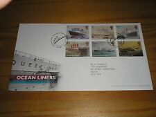 "2004 GB Stamps "" OCEAN LINERS "" First Day Cover TALLENTS HOUSE Cancels FDC"