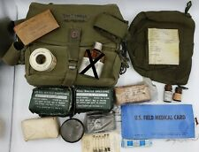 US Army M3 Medic Bag - GI Named - Stocked Full Bandages and More 1960s Vietnam