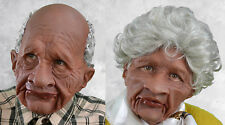 2 Supersoft Old Black Man & Woman Mask Adult Halloween Couples Costume Masks