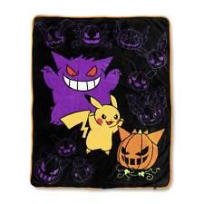 Pokemon Center Original Pikachu and Gengar Halloween Fleece Throw Large Blanket