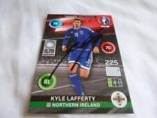 Kyle Lafferty Panini Euro 2016 card signed Northern Ireland