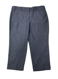 Ann Taylor Factory Women's Size 14 The Crop Blue Mid Rise Slim Leg NWT