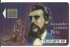 RARE / CARTE TELEPHONIQUE - GRAHAM BELL INVENTEUR DU TELEPHONE FRANCE PHONECARD