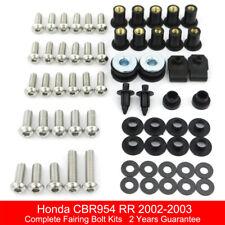 For Hodna CBR954RR 2002-2003 Complete Fairing Bolts Bodywork Screws Nuts Kit