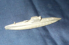 1939 TOOTSIETOY PRE-WAR USN Submarine. Approx 4.25 inch (10.5 CM) LONG. Missing