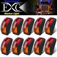 10 X Amber/Red Clearance Lights Side Marker LED Truck Trailer Caravan 12V-24V AU