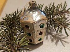 ☭RARE VTG Soviet Russian Christmas XMAS glass toy traffic light ornament USSR
