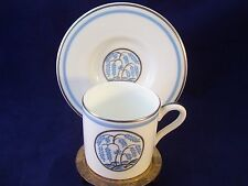 Vintage Wedgwood Weeping Willow Demitasse Cup & Saucer England Blue Demi Set