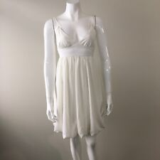 ZIMMERMANN Ivory Dress Empire Thin Straps Bubble Skirt Size 0 6 XS