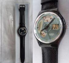 Swatch Black Motion SAB100, uomo, automatico, impermeabile, antichoc, nuovo