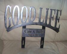 "Vintage Original GOODLIFE Car Club So.  California Plaque Sign Low Rider 16"""
