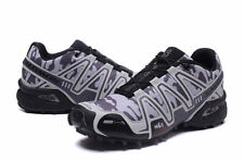 Hot Men's Outdoor Salomon Speedcross 3 Gray camouflage Sports Hiking Shoes