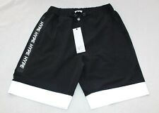 BNWT Mens Hype Black Shorts Size Medium Fluorescent Trim