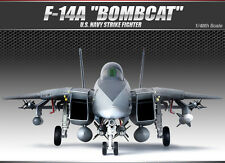 Academy Aircraft 1/48 Scale Plastic Model Kit F-14A U.S Navy Bombcat #12206