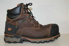 Timberland PRO Mens 6'' Boondock Comp Toe WP Work Boots Sz 11.5 M Brown Leather
